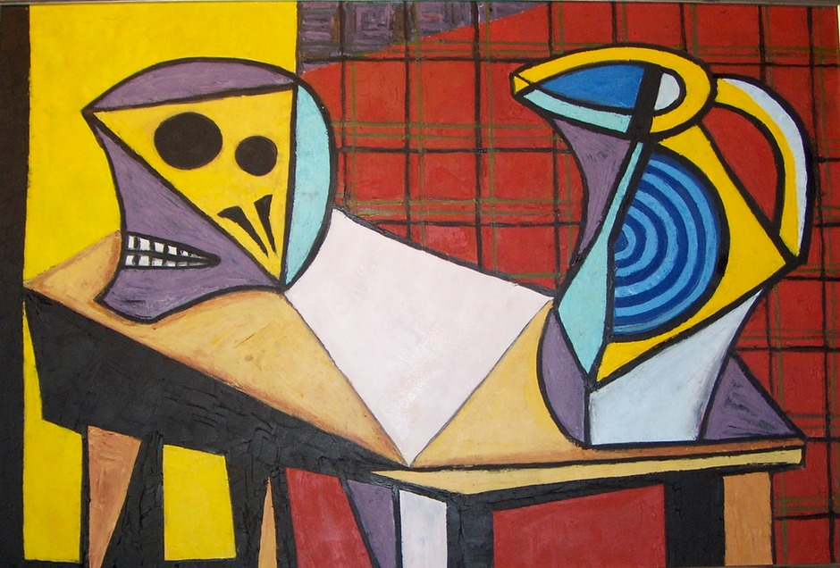 Homage to Picasso's Still Life with Skull